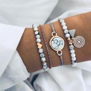 Jewelry - NEW 4pc Adjustable Bracelet Set